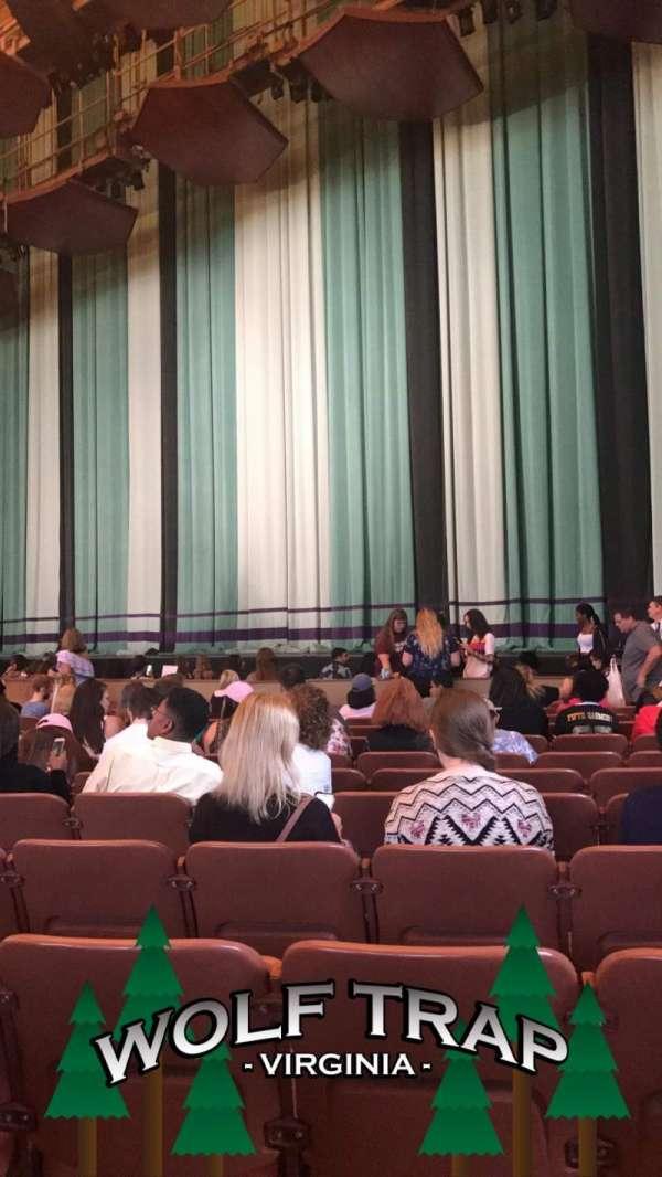 Filene Center, secção: Prime Orchestra L, fila: L, lugar: 61