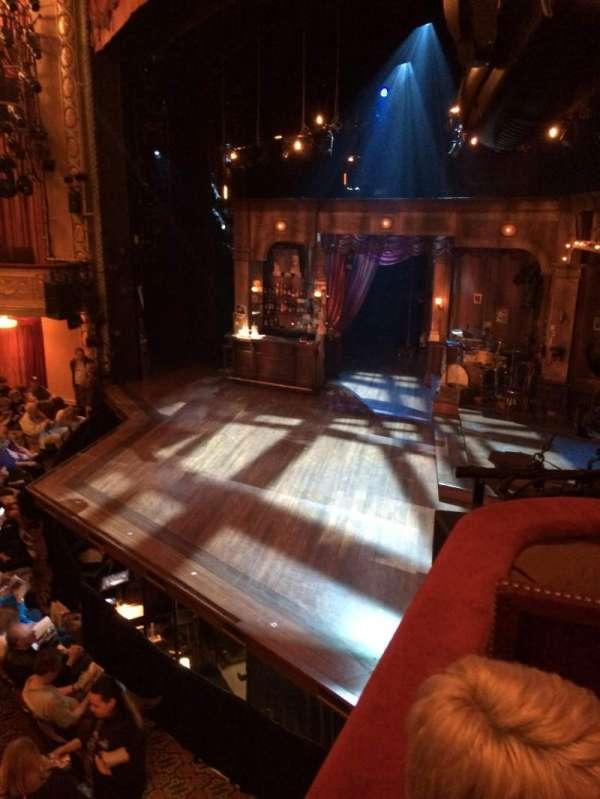 Bernard B. Jacobs Theatre, secção: Right Boxes, fila: C, lugar: 1