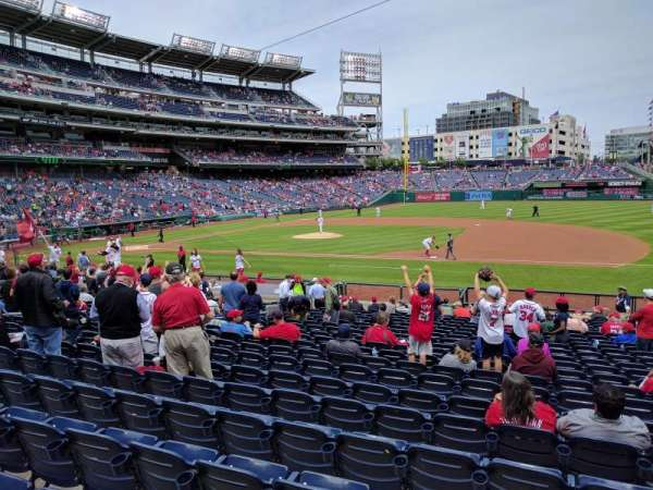 Nationals Park, secção: 130, fila: Z, lugar: 5