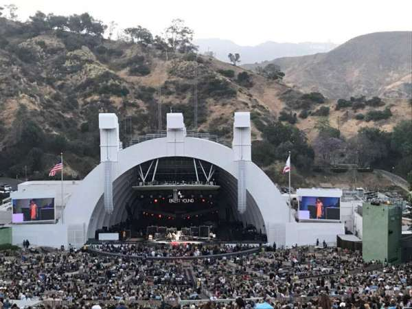 Hollywood Bowl, secção: R1, fila: 1, lugar: 29