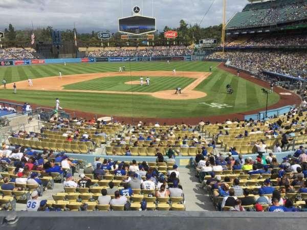 Dodger Stadium, secção: 113LG, fila: A, lugar: 4