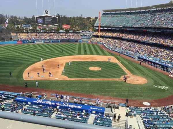 Dodger Stadium, secção: 15RS, fila: A, lugar: 9