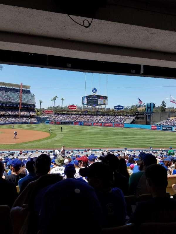 Dodger Stadium, secção: 30FD, fila: W, lugar: 5