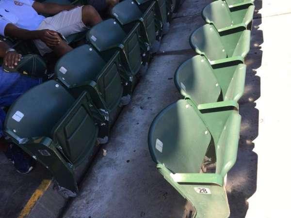 Oakland Coliseum, secção: 114, fila: 29, lugar: 1