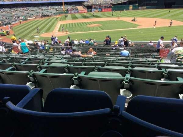 Oakland Coliseum, secção: 114, fila: 29, lugar: 2