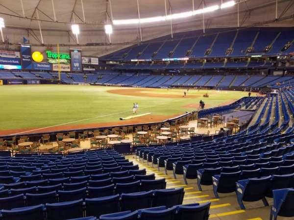 Tropicana Field, secção: 135, fila: Y, lugar: 12