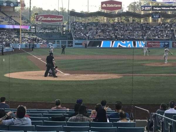 Dodger Stadium, secção: 8FD, fila: G, lugar: 7
