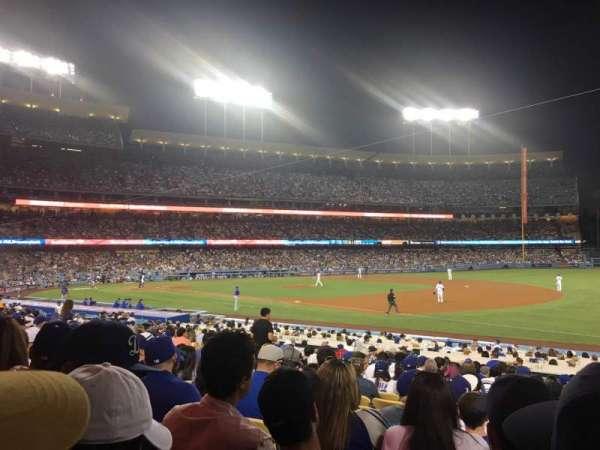 Dodger Stadium, secção: 34FD, fila: S, lugar: 4
