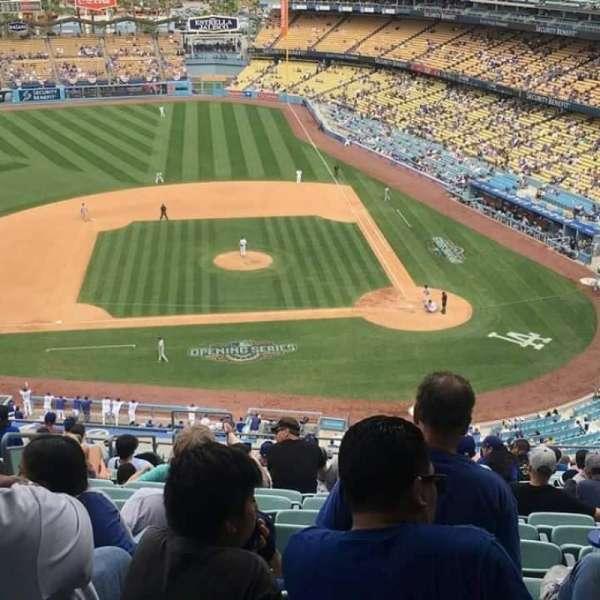 Dodger Stadium, secção: 11RS, fila: R, lugar: 4