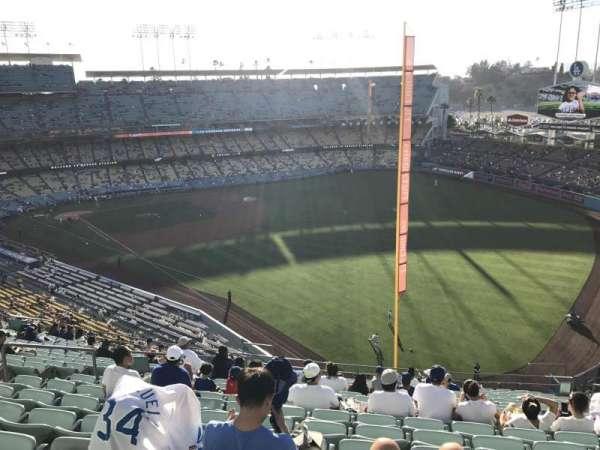 Dodger Stadium, secção: 52RS, fila: T, lugar: 10