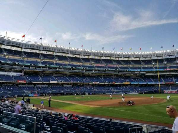 Yankee Stadium, secção: 112, fila: 2, lugar: 12