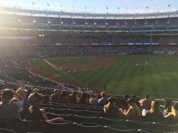 Yankee Stadium, secção: 209, fila: 12, lugar: 4