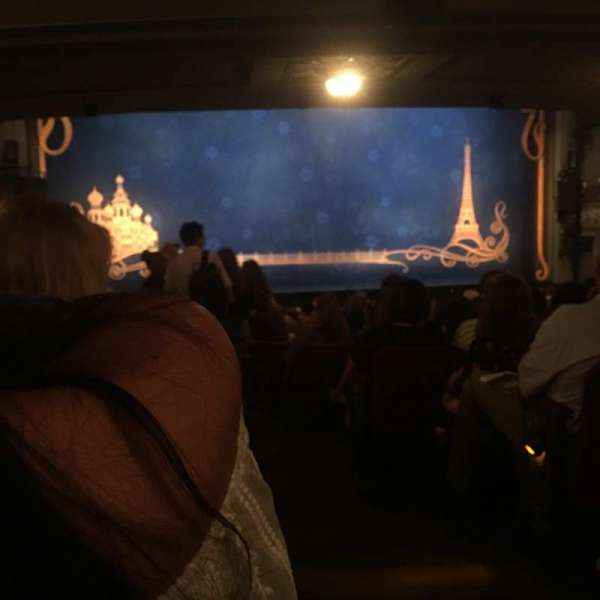 Broadhurst Theatre, secção: Orchestra L, fila: s, lugar: 1