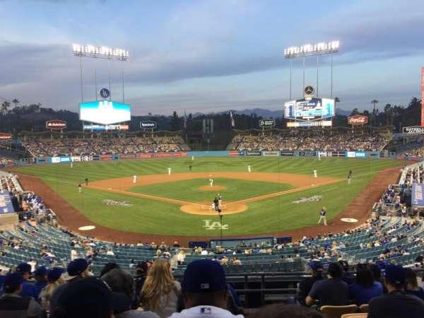 Dodger Stadium, secção: 101LG, fila: H, lugar: 1