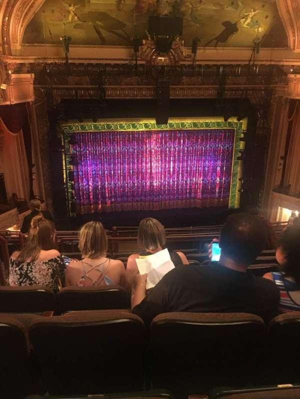 Hippodrome Theatre, secção: Mezzanine Center, fila: L, lugar: 102
