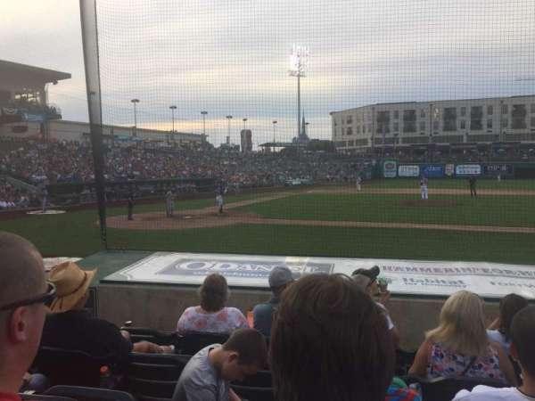 Parkview Field, secção: 104, fila: L, lugar: 16