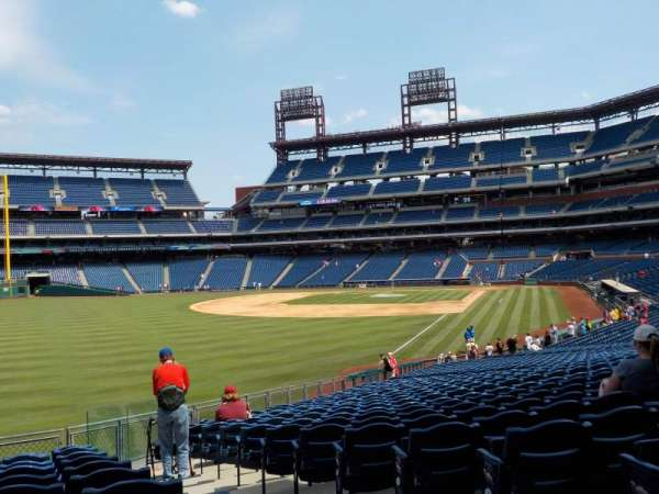 Citizens Bank Park, secção: 140, fila: 17, lugar: 1 and 2