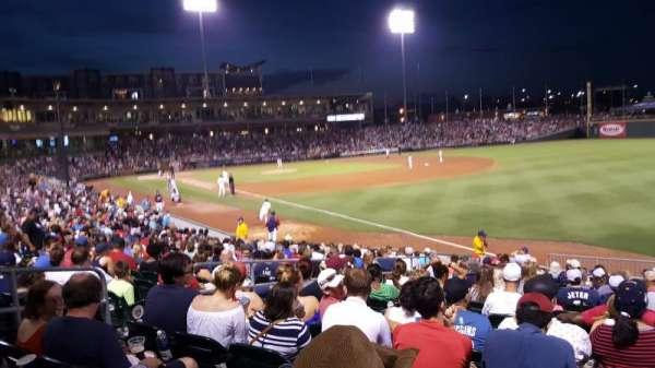 BB&T Ballpark (Charlotte), secção: 102, fila: S, lugar: 21