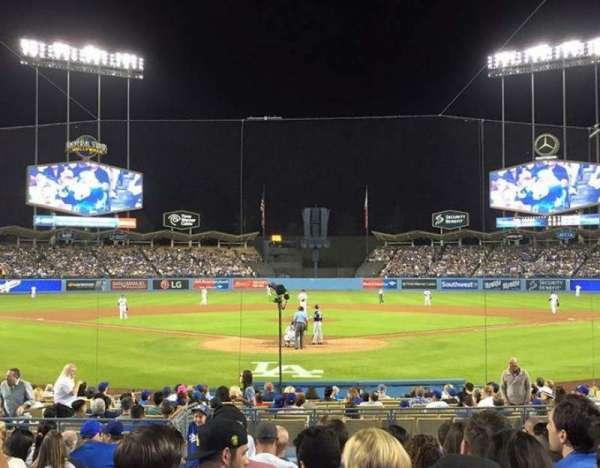 Dodger Stadium, secção: 2FD, fila: G, lugar: 3
