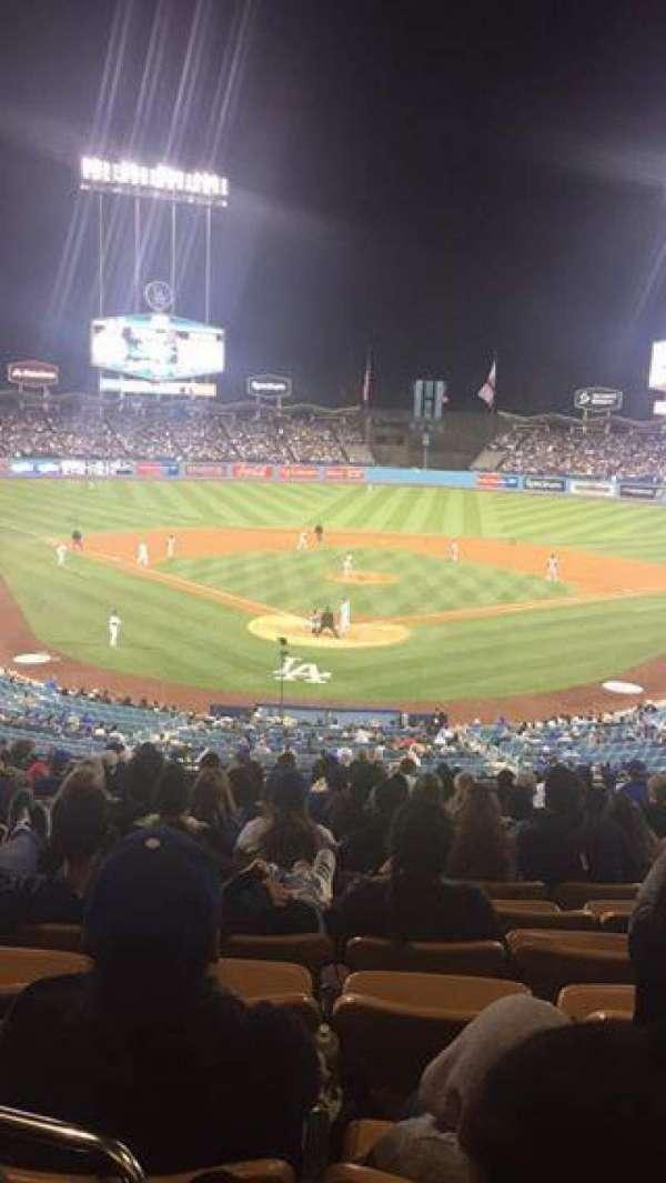 Dodger Stadium, secção: 104LG, fila: M, lugar: 6