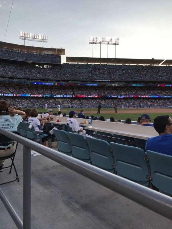 Dodger Stadium, secção: 38FD, fila: A, lugar: 8