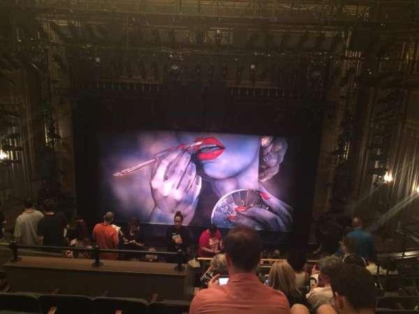 Nederlander Theatre, secção: Mezzanine C, fila: N, lugar: 105