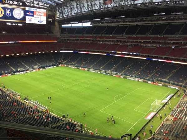 NRG Stadium, secção: 603, fila: A, lugar: 4