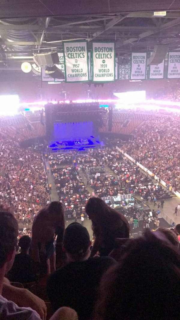 TD Garden, secção: Bal 310, fila: 15, lugar: 13