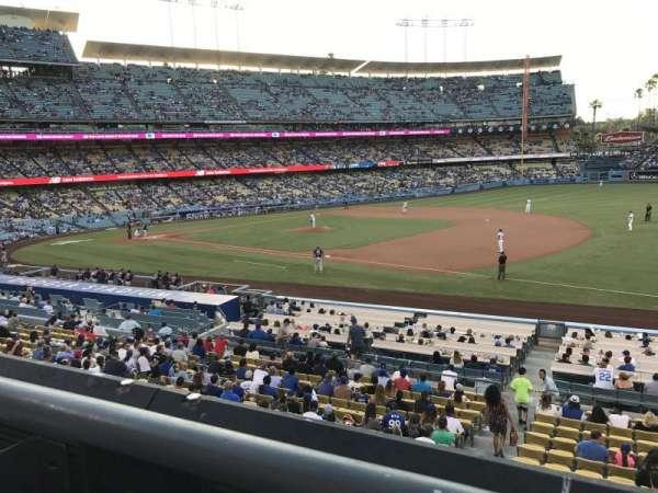 Dodger Stadium, secção: 146LG, fila: A, lugar: 1
