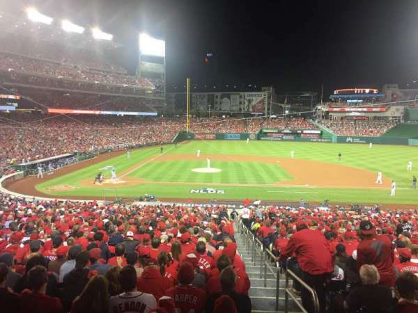 Nationals Park, secção: 128, fila: UU, lugar: 1