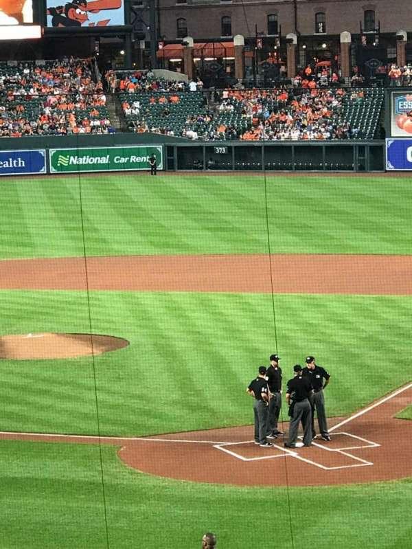 Oriole Park at Camden Yards, secção: 39, fila: 6, lugar: 8