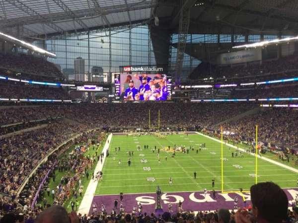 U.S. Bank Stadium, secção: 121, fila: 40, lugar: 13