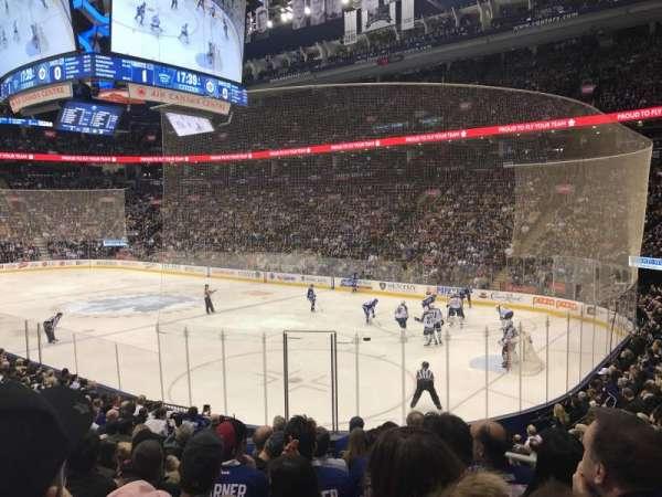 Scotiabank Arena, secção: 116A, fila: 17, lugar: 3