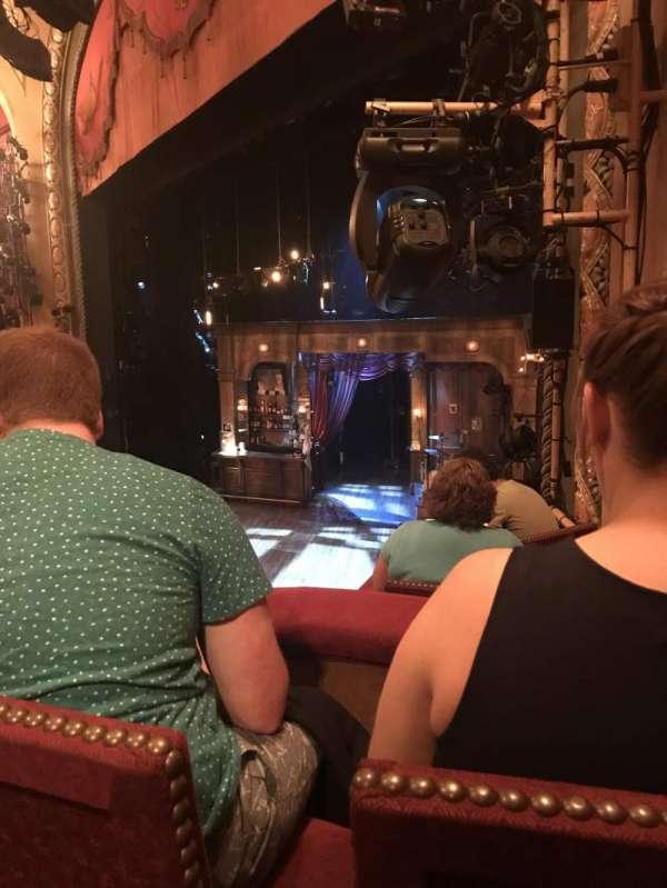 Bernard B. Jacobs Theatre, secção: Right Boxes, fila: C, lugar: 4