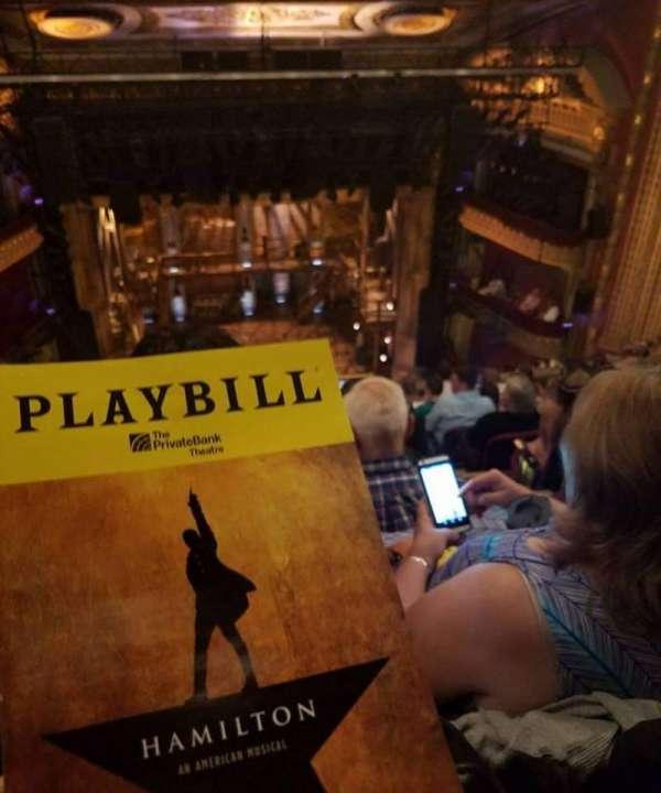 CIBC Theatre, secção: Balcony LC, fila: J, lugar: 401