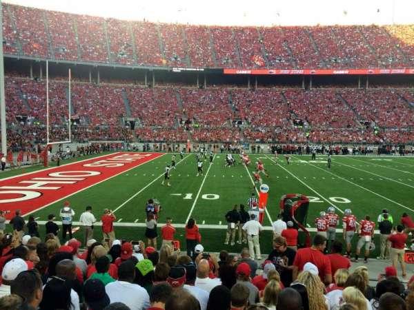 Ohio Stadium, secção: 15A, fila: 11, lugar: 3