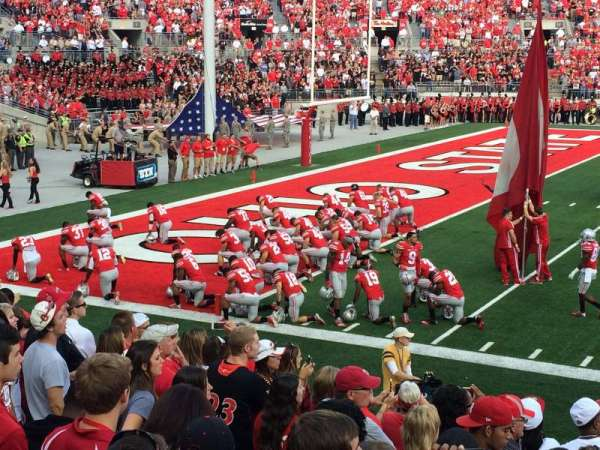 Ohio Stadium, secção: 15AA, fila: 11, lugar: 4