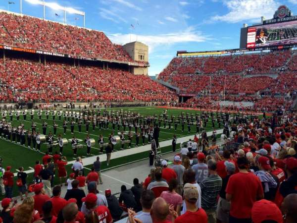 Ohio Stadium, secção: 15AA, fila: 11, lugar: 3