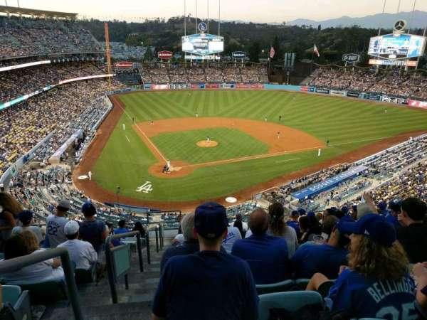 Dodger Stadium, secção: 6RS, fila: M, lugar: 1
