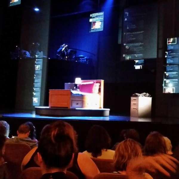 Music Box Theatre, secção: Orchestra C, fila: G, lugar: 108