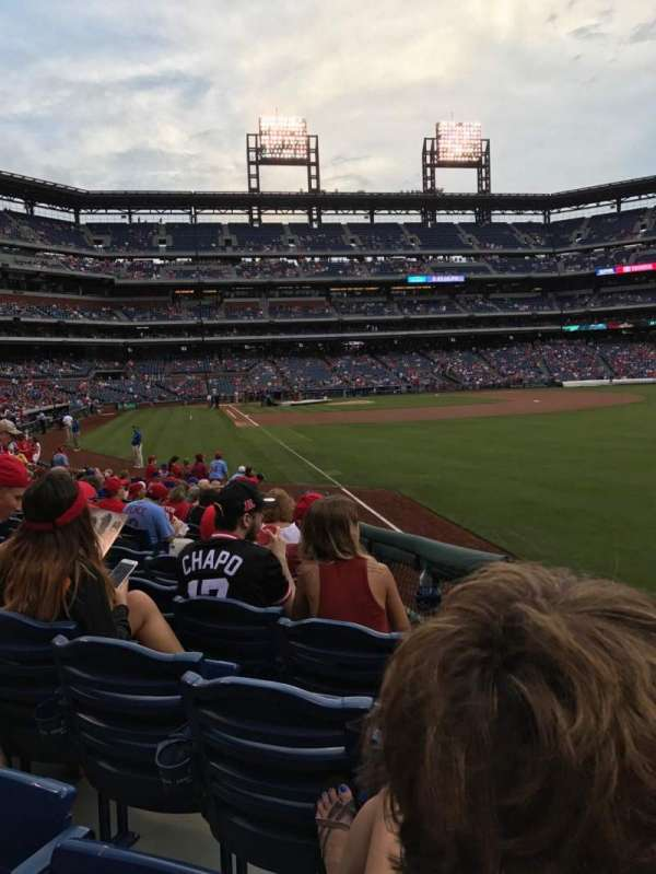 Citizens Bank Park, secção: 108, fila: 17, lugar: 11