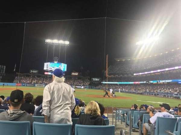 Dodger Stadium, secção: 9fd, fila: A, lugar: 3