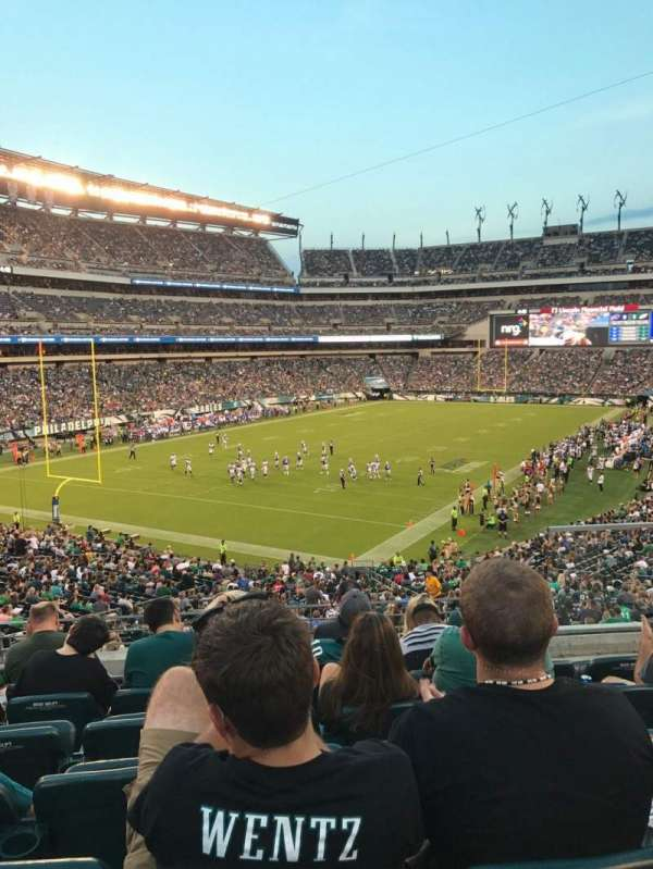 Lincoln Financial Field, secção: 132, fila: 41, lugar: 5