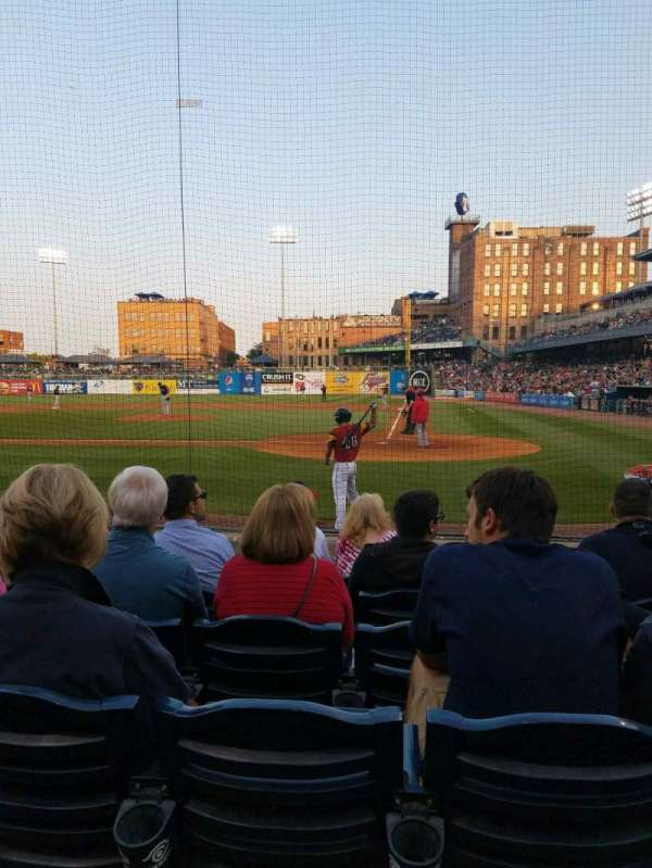 Fifth Third Field, secção: 108, fila: g, lugar: 4