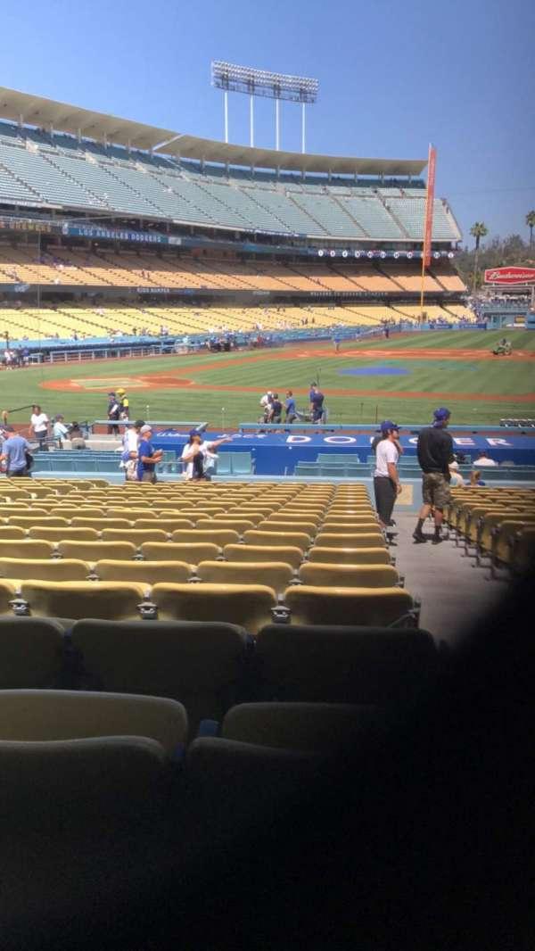 Dodger Stadium, secção: 18FD, fila: T, lugar: 8