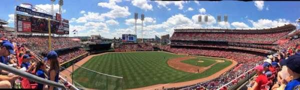 Great American Ball Park, secção: 413, fila: 8, lugar: 24