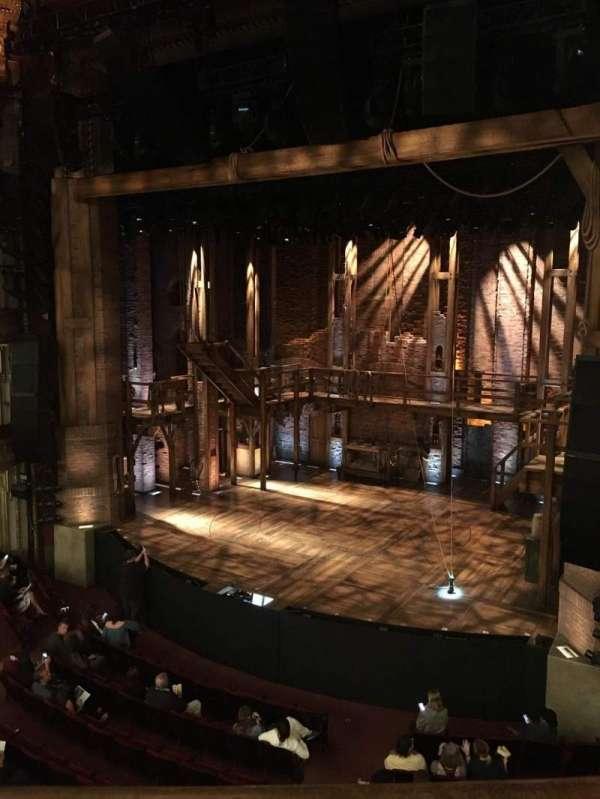 CIBC Theatre, secção: Mezzanine R, fila: A, lugar: 2