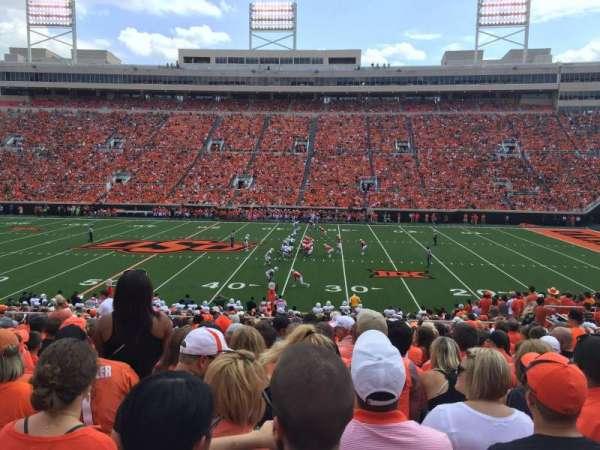 Boone Pickens Stadium, secção: 224, fila: 19