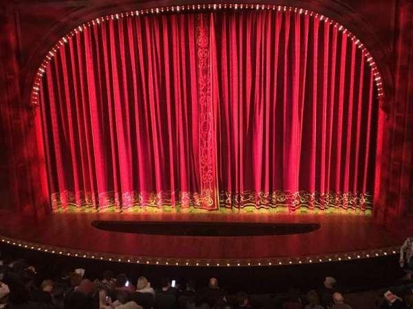 Shubert Theatre, secção: Mezzanine C, fila: A, lugar: 105