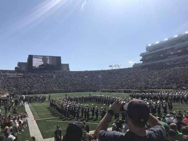 Notre Dame Stadium, secção: 3, fila: 12, lugar: 12